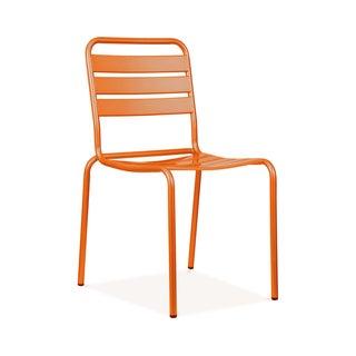 Paris Orange Metal Stackable Side Chair (Pack of 4)