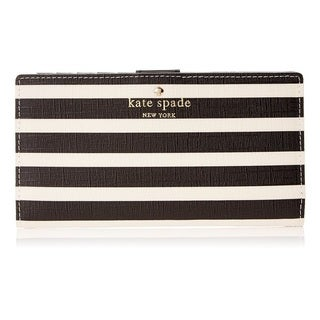 Kate Spade New York Fairmount Square Stacy Black/Sandy Beach Wallet