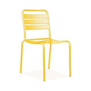 Paris Yellow Metal 4-piece Stackable Side Chair Set