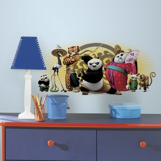 Kung Fu Panda w/Friends Multicolored Peel-and-Stick Giant Wall Graphic