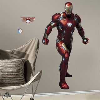 Iron Man Civil War Peel and Stick Giant Wall Decals
