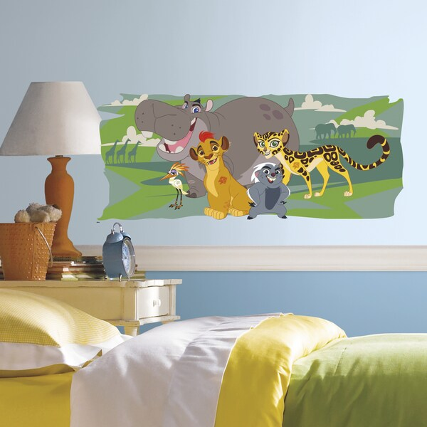 Lion Guard and Friends Multicolored Peel-and-Stick Giant Wall Graphic