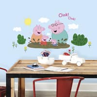Peppa Pig Family Muddy Puddles Giant Peel and Stick Wall Decals