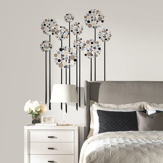 Neutral Floral Dot Peel-and-stick Giant Wall Decals
