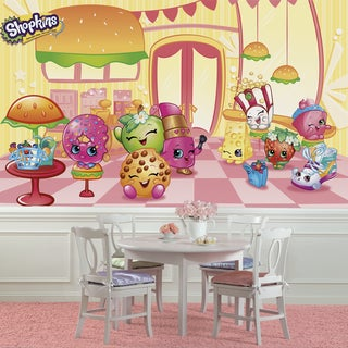 Shopkins XL Chair Rail 6' x 10.5' Prepasted Ultra-strippable Mural