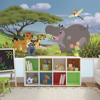 Lion Guard XL 6-foot x 10-foot 6-inch Ultra-strippable Prepasted Chair Rail Mural