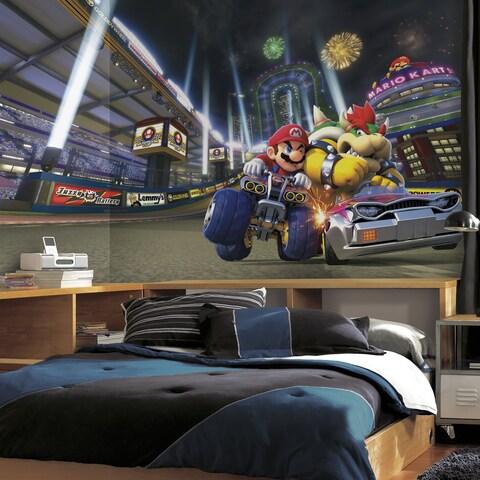 Mario Kart 8 XL 6' x 10.5' Ultra-strippable Chair Rail Prepasted Mural