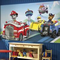 Paw Patrol XL Chair Rail Prepasted 6-foot x 10.5-foot Ultra-strippable Mural
