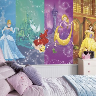 Disney Princess Scenes XL 6' x 10.5' Ultra-strippable Chair Rail Prepasted Mural
