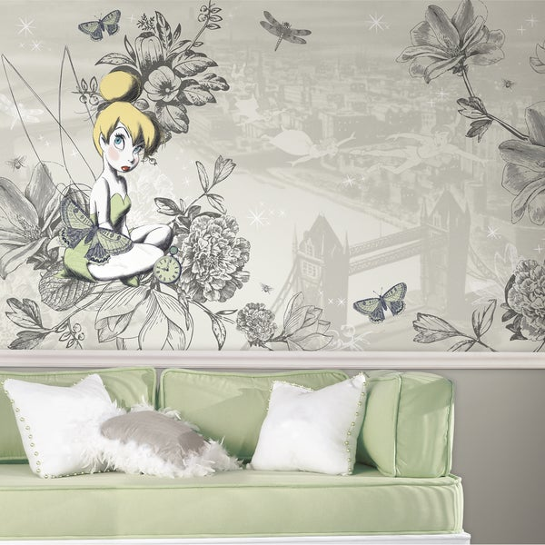 roommates decor vintage style prepasted extra large chair tinkerbell wall mural 1 by cheal on deviantart