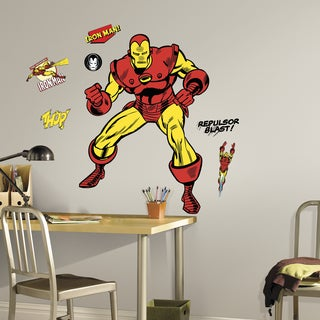Classic Iron Man Comic Peel-and-stick Giant Wall Decals