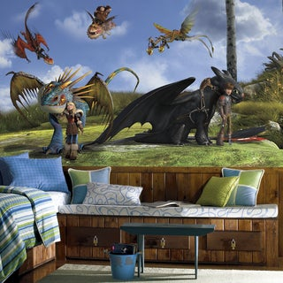 RoomMates Decor 'How To Train Your Dragon' Multicolored Wallpaper Mural (6' x 10.5')