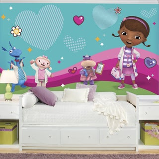 Doc Mcstuffins and Friends 6-foot x 10.5-foot XL Ultra-strippable Pre-pasted Mural