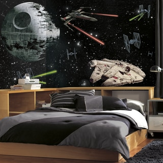 Star Wars Vehicles XL 6-foot x 10.5-foot Chair Rail Prepasted Ultra-strippable Mural