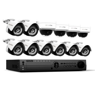 LaView 1080p IP NVR 16 Channel 3TB Hard Drive Video Security Surveillance System with 8 PoE IP Bullet and 4 PoE IP Dome Cameras