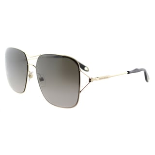 Givenchy GV 7004 J5G Gold Metal Square Brown Gradient Lens Sunglasses