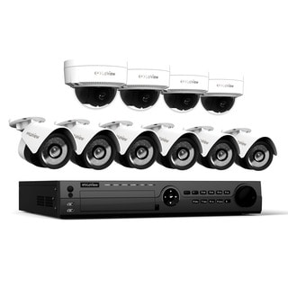 LaView 1080p IP NVR 16 Channel 3TB HDD Video Security Surveillance System with 6 1080p IP Bullet and 4 1080p IP Dome Cameras