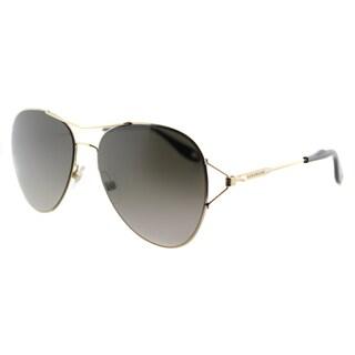Givenchy GV 7005 J5G Gold Metal Aviator Brown Gradient Lens Sunglasses