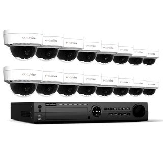LaView 1080p IP NVR 16 CH 3TB HDD Video Security Surveillance System with 16 PoE 1080p IP Dome Cameras and Night Vision