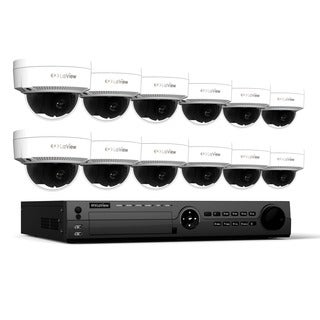 LaView 1080p IP NVR 16 Channel 3TB Hard Drive Video Security Surveillance System with 12 PoE 1080P IP Dome Cameras