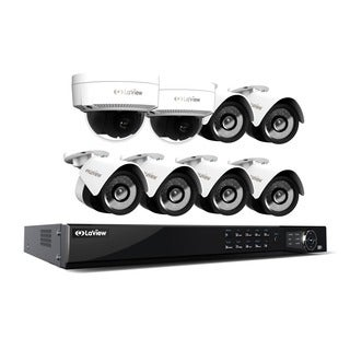 LaView 1080p IP NVR 8 Channel 4TB Hard Drive Video Security Surveillance System, 6 PoE IP Bullet and 2 PoE IP Dome Cameras