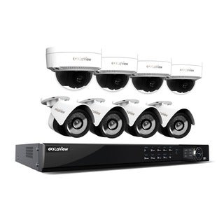 LaView 1080p IP NVR 8 Channel 4TB Hard Drive Video Security Surveillance System, 4 PoE IP Bullet and 4 PoE IP Dome Cameras
