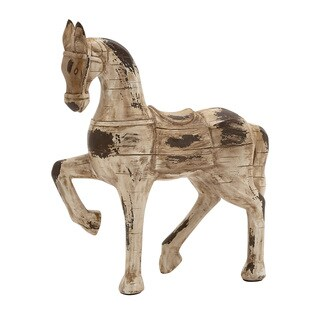 Antique Styled Polystone Horse