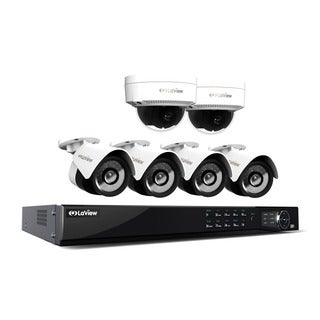 LaView 1080p IP NVR 8 Channel 4TB Hard Drive Video Security Surveillance System with 4 PoE IP Bullet and 2 PoE IP Dome Cameras