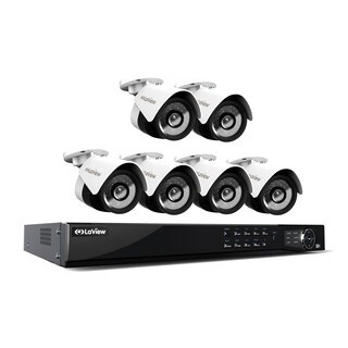 LaView 1080p IP NVR 8 Channel 2TB Hard Drive Video Security Surveillance System with 6 PoE 1080P IP Bullet Cameras