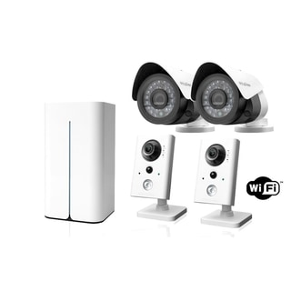 LaView 1080p WiFi 8 CH 1TB HDD Video Security Surveillance System, 5 WiFi Ports, 2 WiFi and 2 Outdoor 1080p Night Vision Cameras