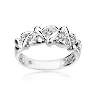 Andrew Charles 14k White Gold Diamond Accent Modern Ring