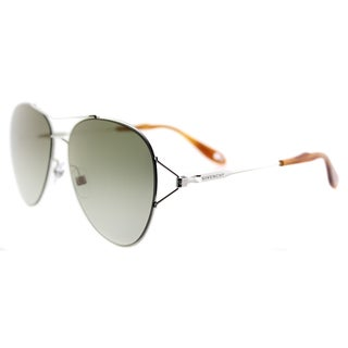 Givenchy GV 7005 010 Palladium Metal Aviator Green Gradient Lens Sunglasses