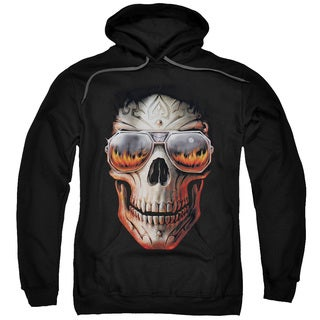 Anne Stokes Adults' Hellfire Black Pull-over Hoodie