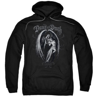 Anne Stokes Adults' Dance With Death Black Pull-over Hoodie