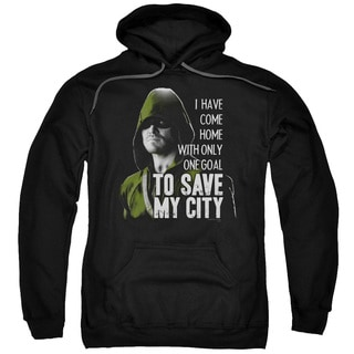 Arrow/Save My City Adult Pullover Hoodie in Black