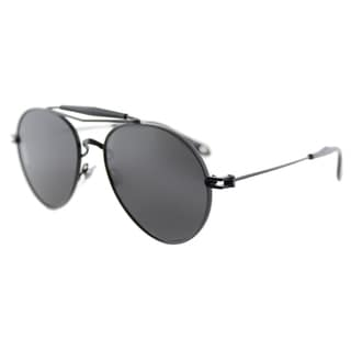 Givenchy GV 7012 PDE Matte Black Metal Aviator Grey Lens Sunglasses