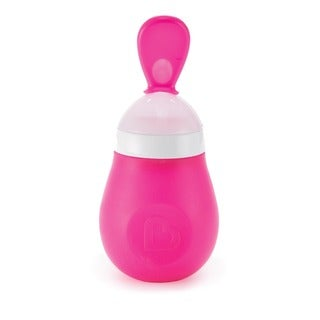 Munchkin Pink Silicone Squeeze Spoon