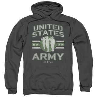 Army Adult United States Army Charcoal Cotton/Polyester Pullover Hoodie