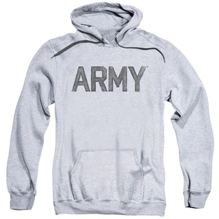 Adult Athletic Heather Cotton/Polyester Army/Star Pull-Over Hoodie