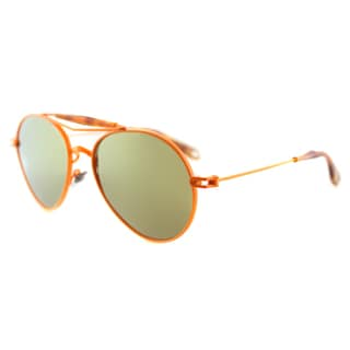 Givenchy GV 7012 TI1 Orange Metal Aviator Gold Mirror Lens Sunglasses