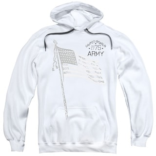 Adult's White Cotton/Polyester Army/Tristar Pull-over Hoodie
