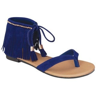 Beston Gc02 Fringe Gladiator Thong Sandals