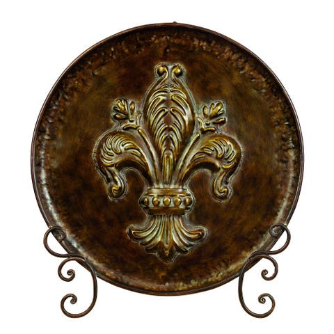 Gracewood Hollow Whitehat Rust-Free Metal Plate with Stand