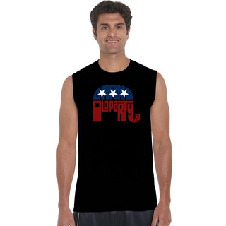 Men's Cotton Sleeveless Republican GOP Party T-shirt