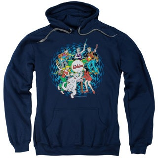 Archie Comics/Psychadelic Archies Adult Navy Pull-over Hoodie