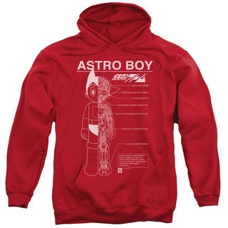 Astro Boy Adults' Schematics Red Pull-over Hoodie