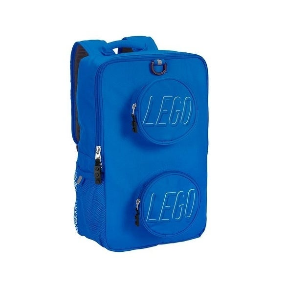 Lego Brick Blue Recyled Backpack (Lego Blue Brick Cycle-P...