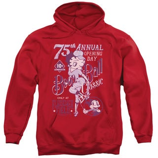Betty Boop Adult's Boop Ball Red Cotton/Polyester Pullover Hoodie