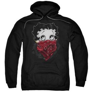 Boop/Bandana Roses Adult Pull-Over Hoodie in Black