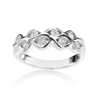 Andrew Charles 14k White Gold 1/2ct TDW Diamond Ring